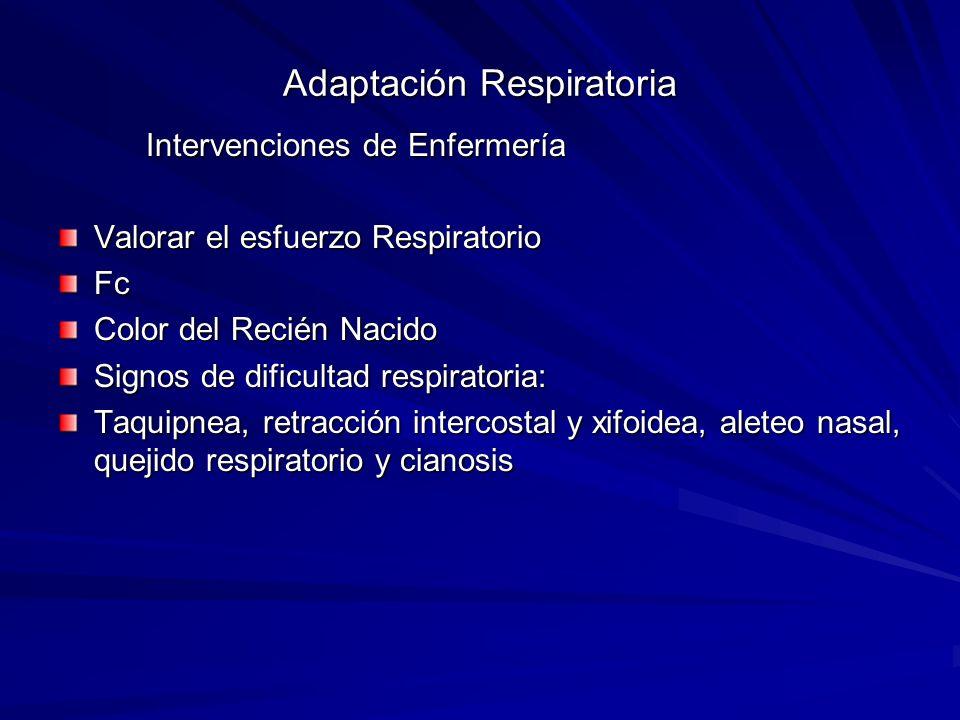 Adaptación Respiratoria