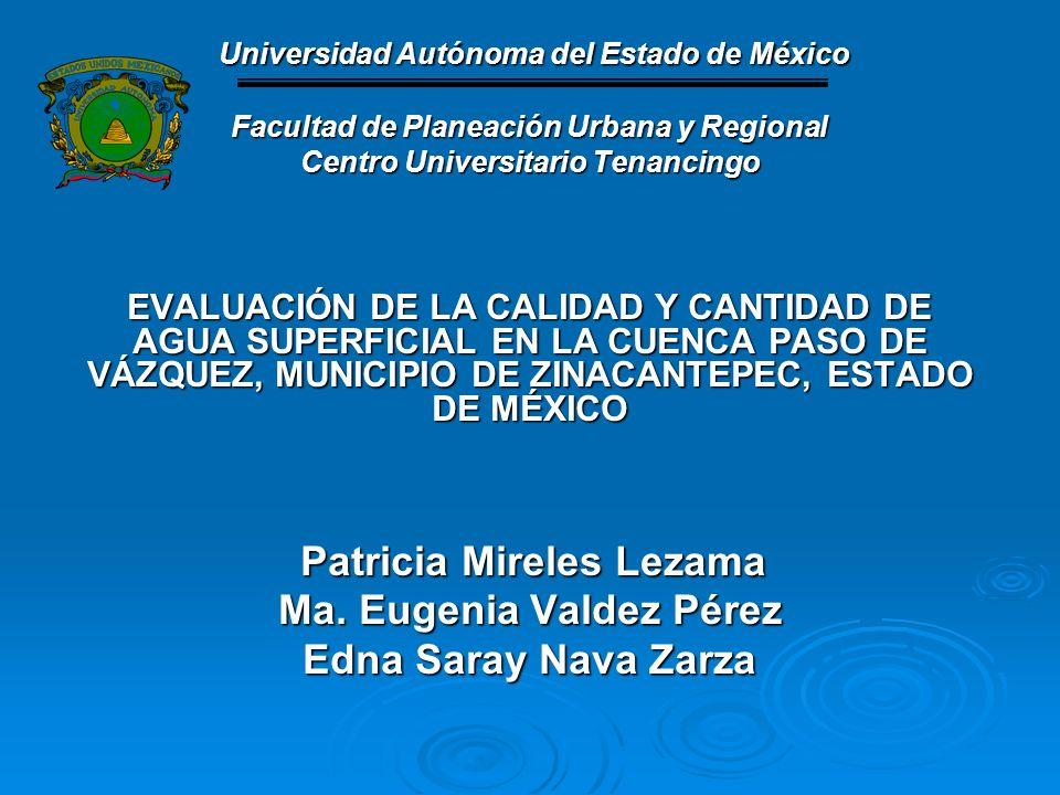 Ma. Eugenia Valdez Pérez Edna Saray Nava Zarza