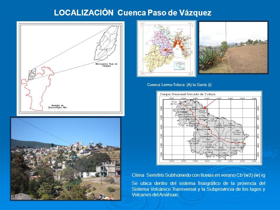 LOCALIZACIÓN Cuenca Paso de Vázquez