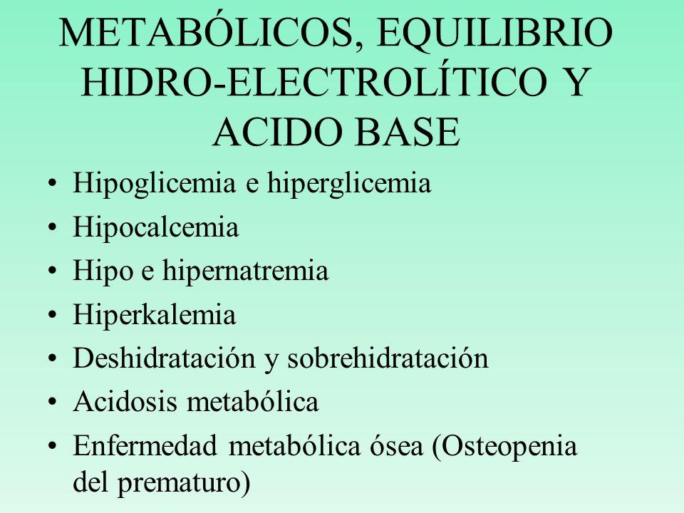 METABÓLICOS, EQUILIBRIO HIDRO-ELECTROLÍTICO Y ACIDO BASE