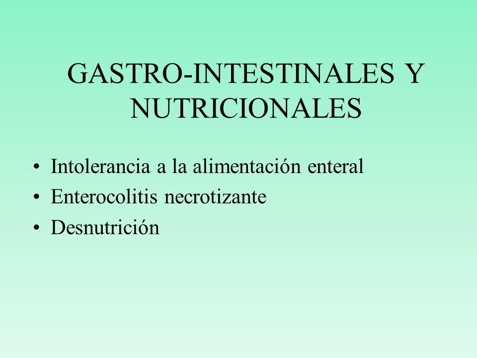 GASTRO-INTESTINALES Y NUTRICIONALES