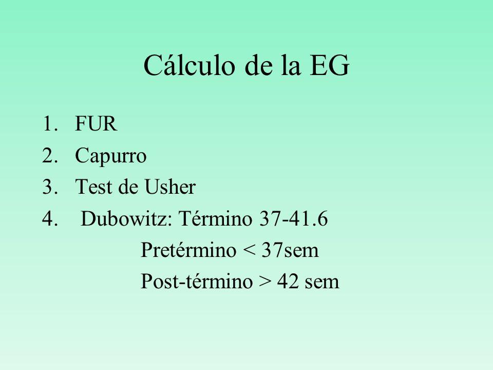 Cálculo de la EG FUR Capurro Test de Usher