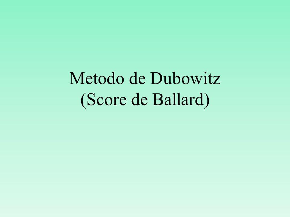 Metodo de Dubowitz (Score de Ballard)