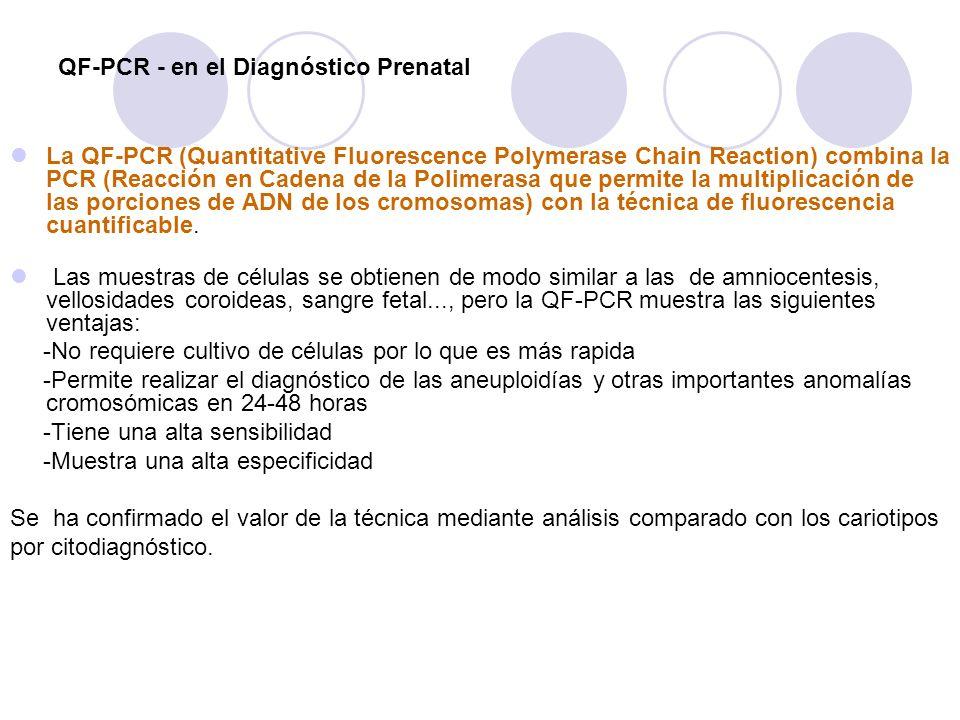 QF-PCR - en el Diagnóstico Prenatal
