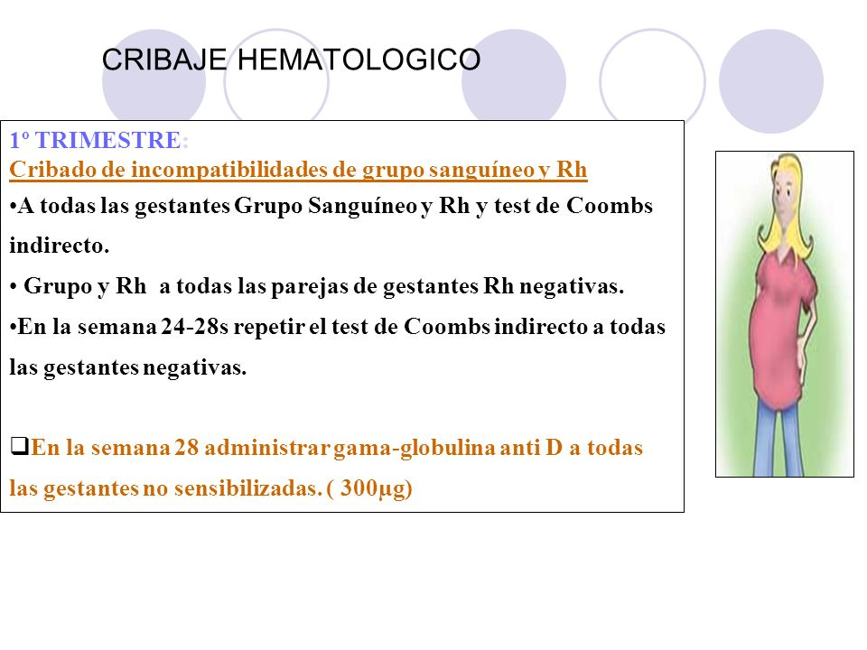 CRIBAJE HEMATOLOGICO 1º TRIMESTRE: