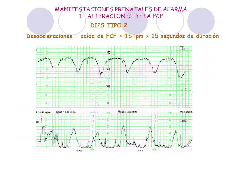 MANIFESTACIONES PRENATALES DE ALARMA