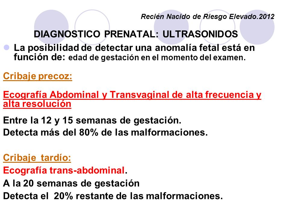 DIAGNOSTICO PRENATAL: ULTRASONIDOS