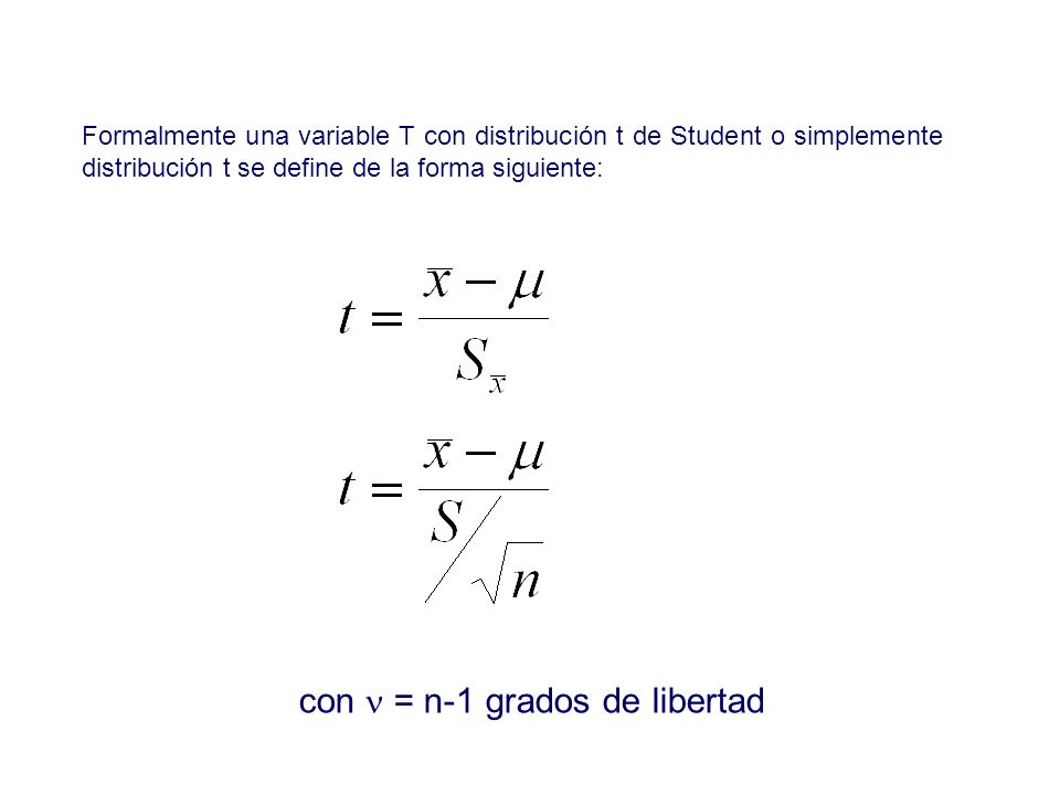 con n = n-1 grados de libertad