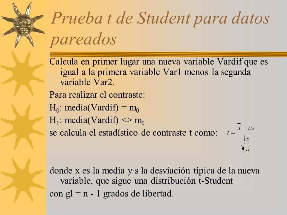 Prueba t de Student para datos pareados