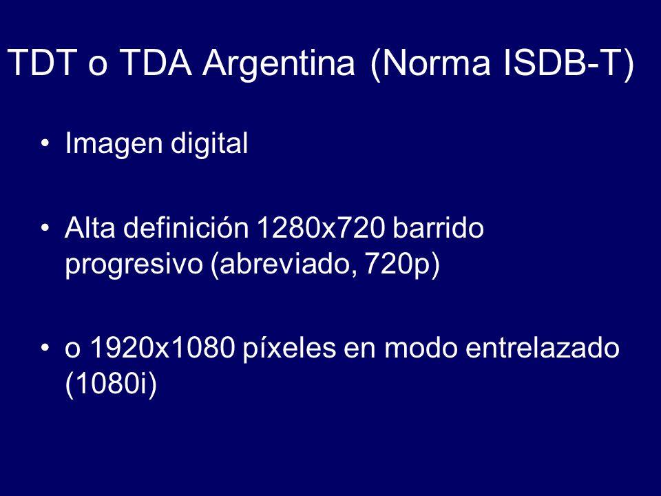 TDT o TDA Argentina (Norma ISDB-T)