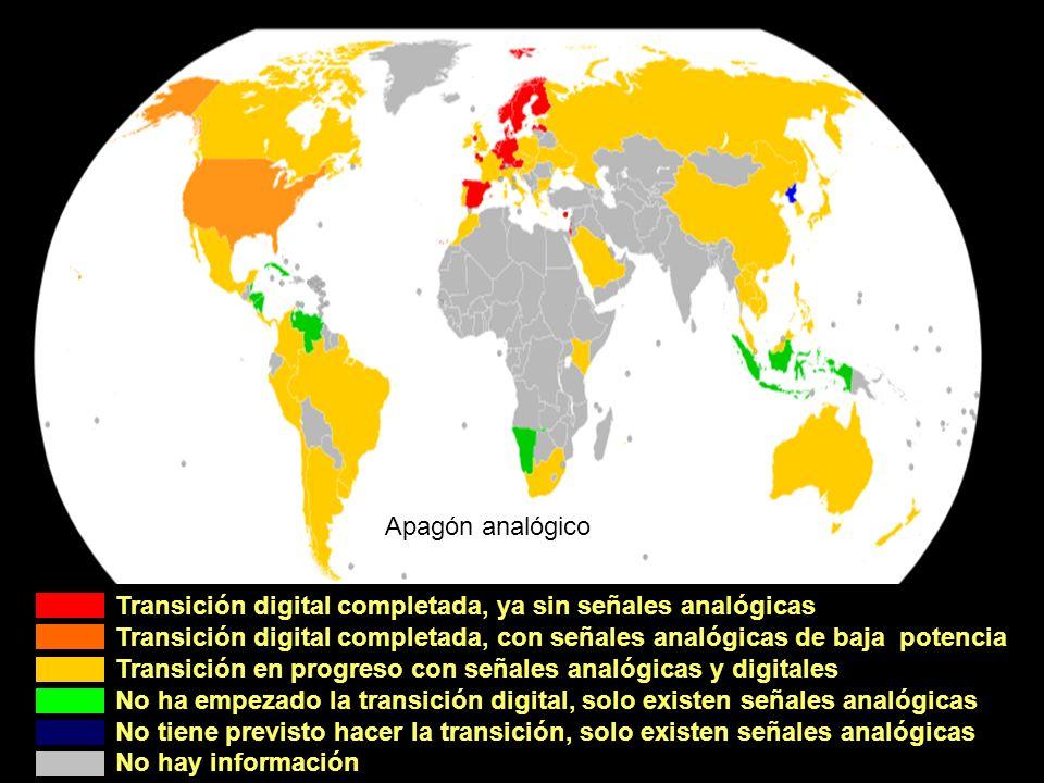 Apagón analógico Transición digital completada, ya sin señales analógicas
