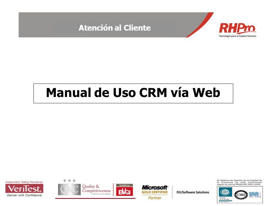 Manual de Uso CRM vía Web