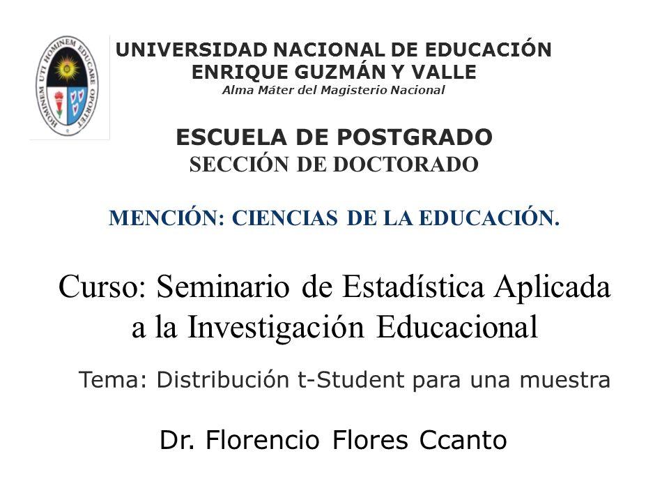 UNIVERSIDAD NACIONAL DE EDUCACIÓN Alma Máter del Magisterio Nacional