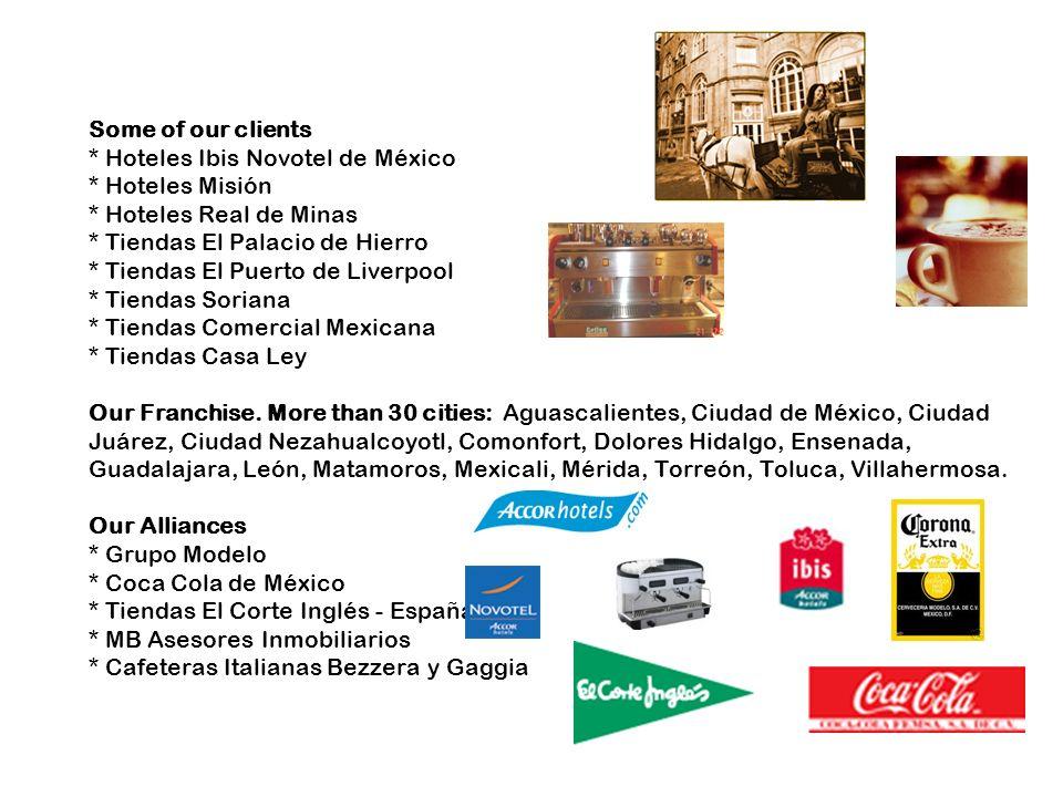 Some of our clients. Hoteles Ibis Novotel de México. Hoteles Misión