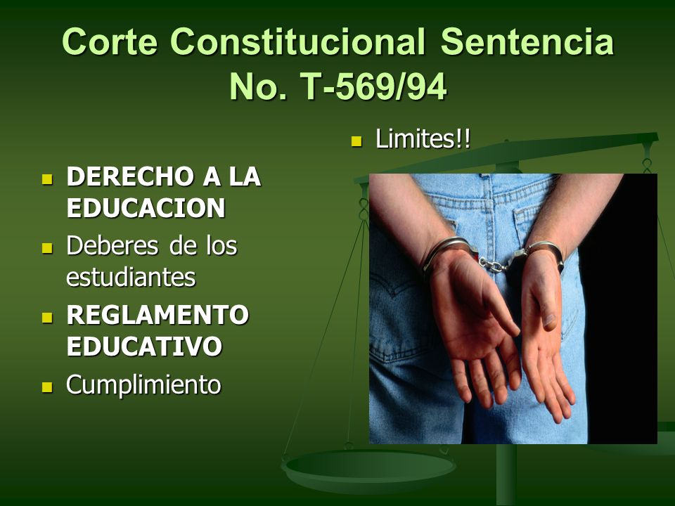 Corte Constitucional Sentencia No. T-569/94