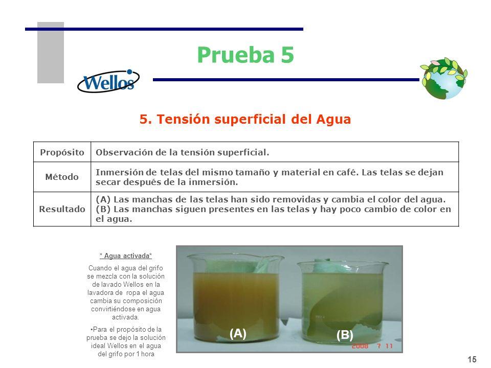 5. Tensión superficial del Agua