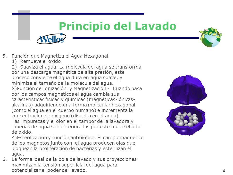 Principio del Lavado 5. Función que Magnetiza el Agua Hexagonal