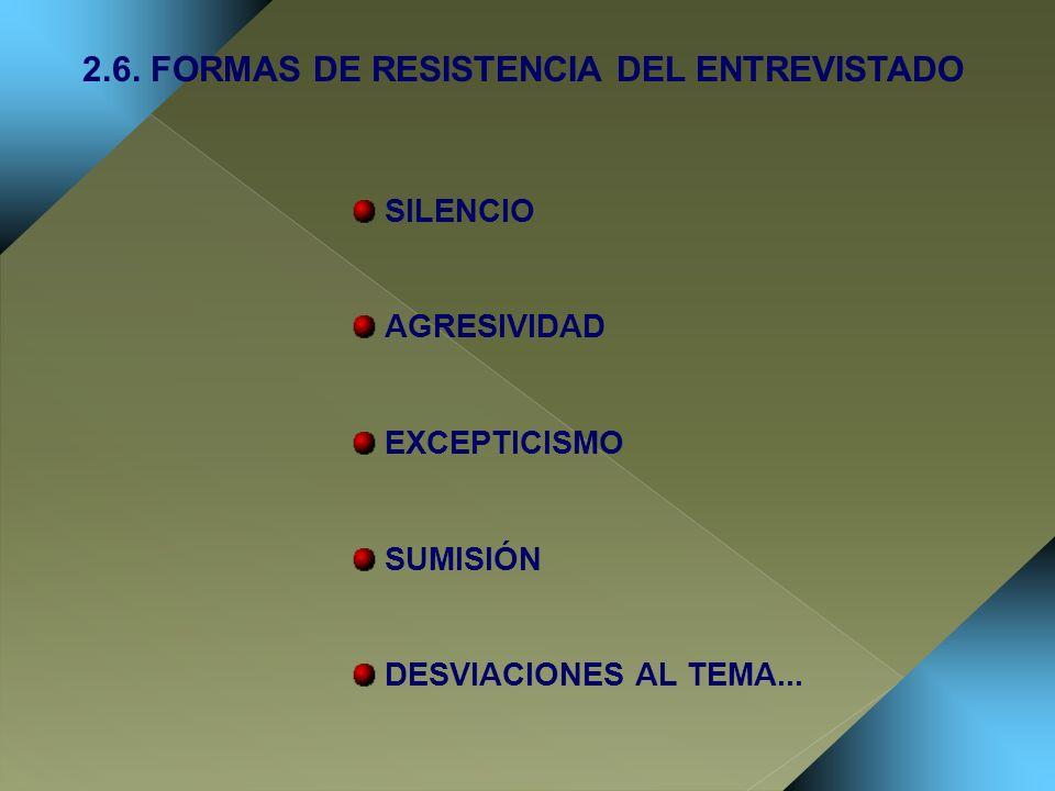 2.6. FORMAS DE RESISTENCIA DEL ENTREVISTADO