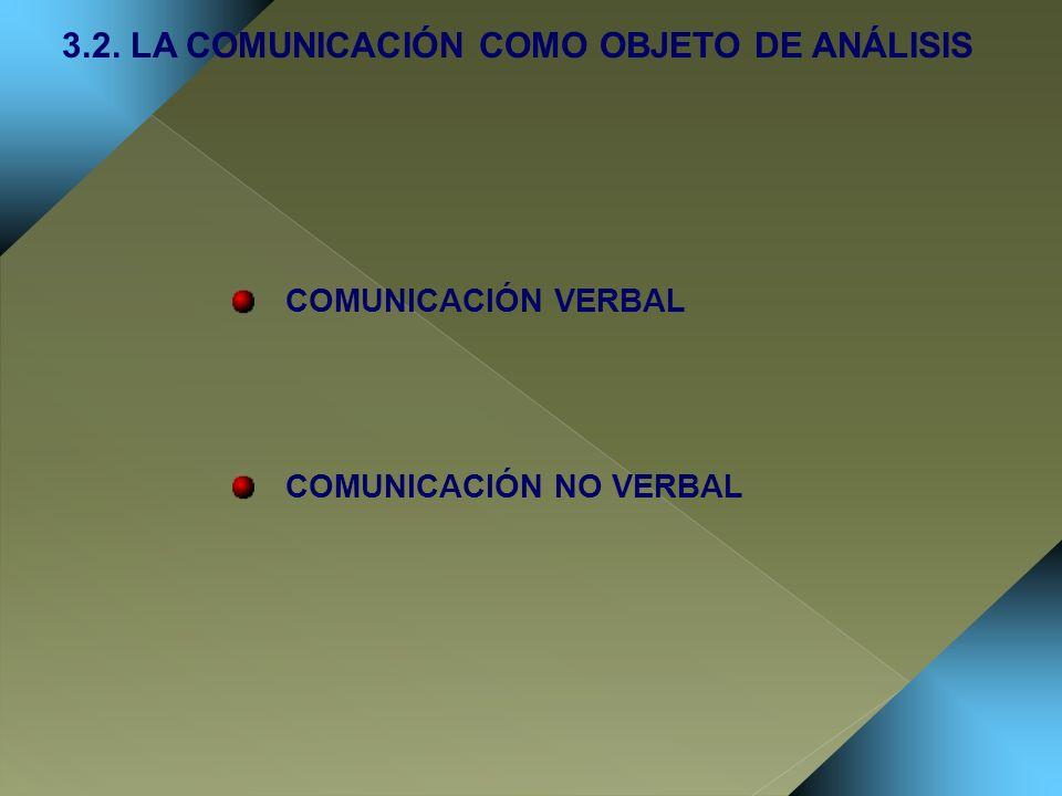 3.2. LA COMUNICACIÓN COMO OBJETO DE ANÁLISIS