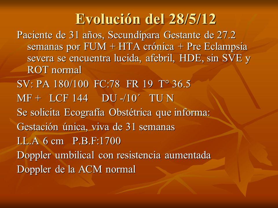 Evolución del 28/5/12
