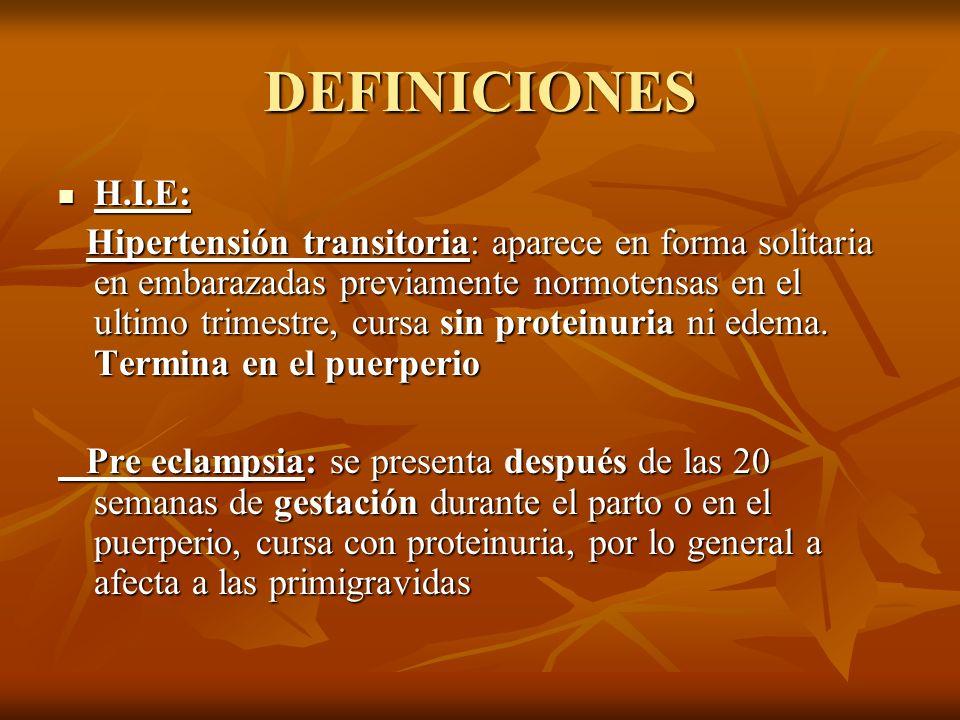 DEFINICIONES H.I.E: