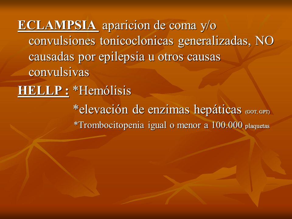 *elevación de enzimas hepáticas (GOT, GPT)