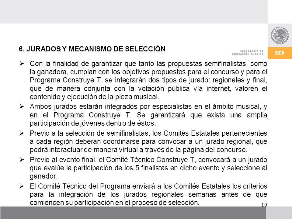 6. JURADOS Y MECANISMO DE SELECCIÓN