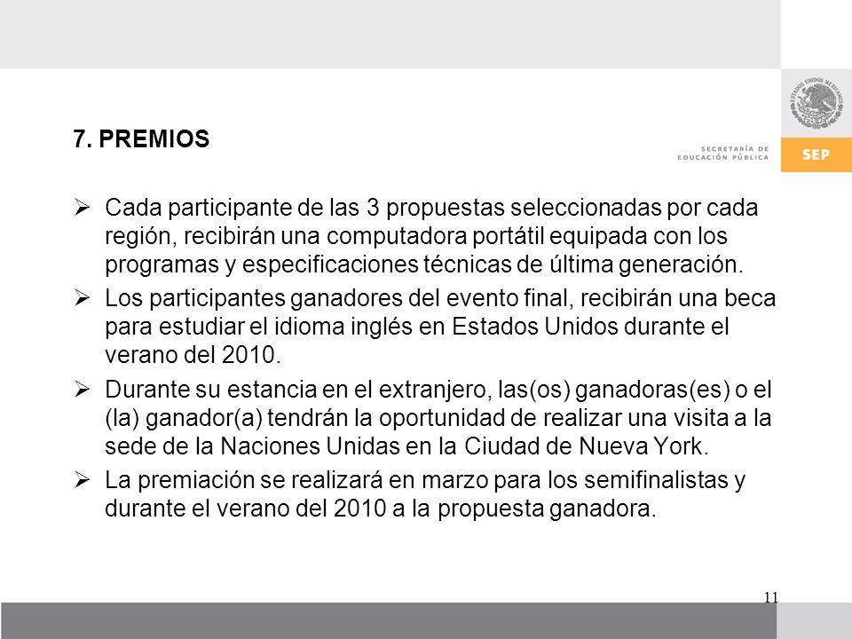 7. PREMIOS