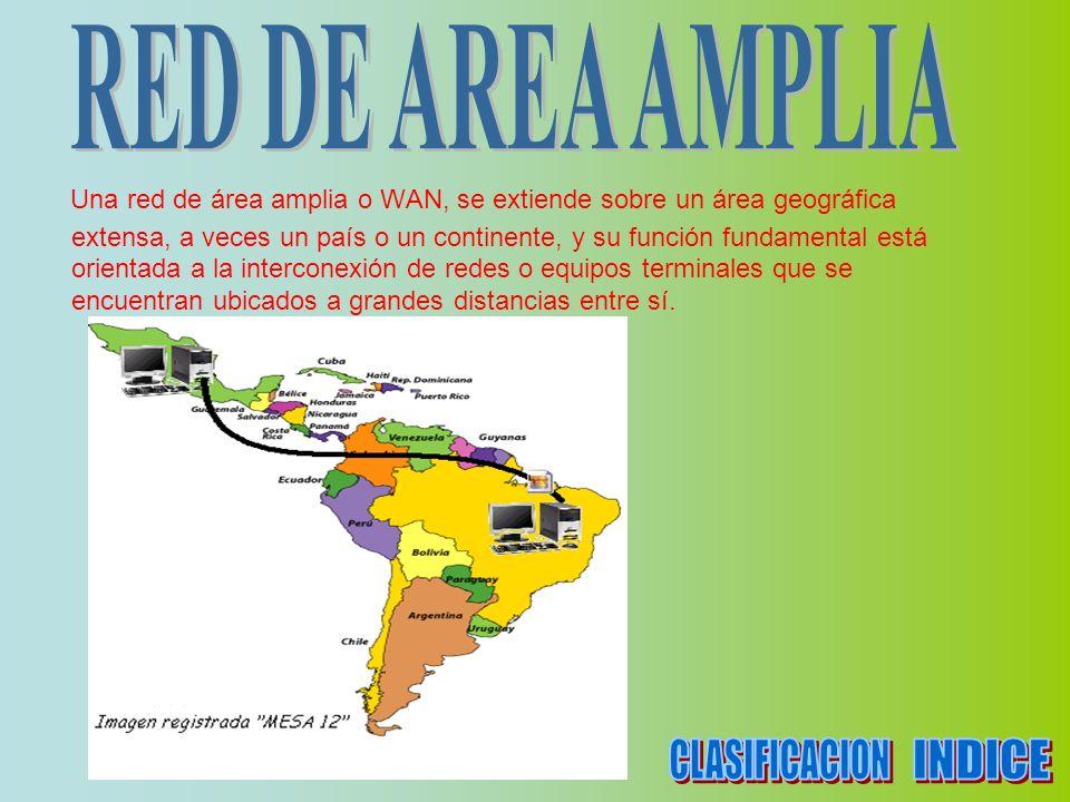 CLASIFICACION INDICE RED DE AREA AMPLIA