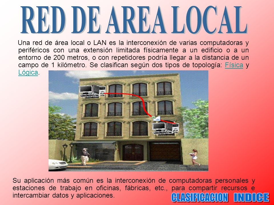 CLASIFICACION INDICE RED DE AREA LOCAL