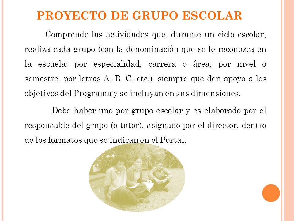 PROYECTO DE GRUPO ESCOLAR