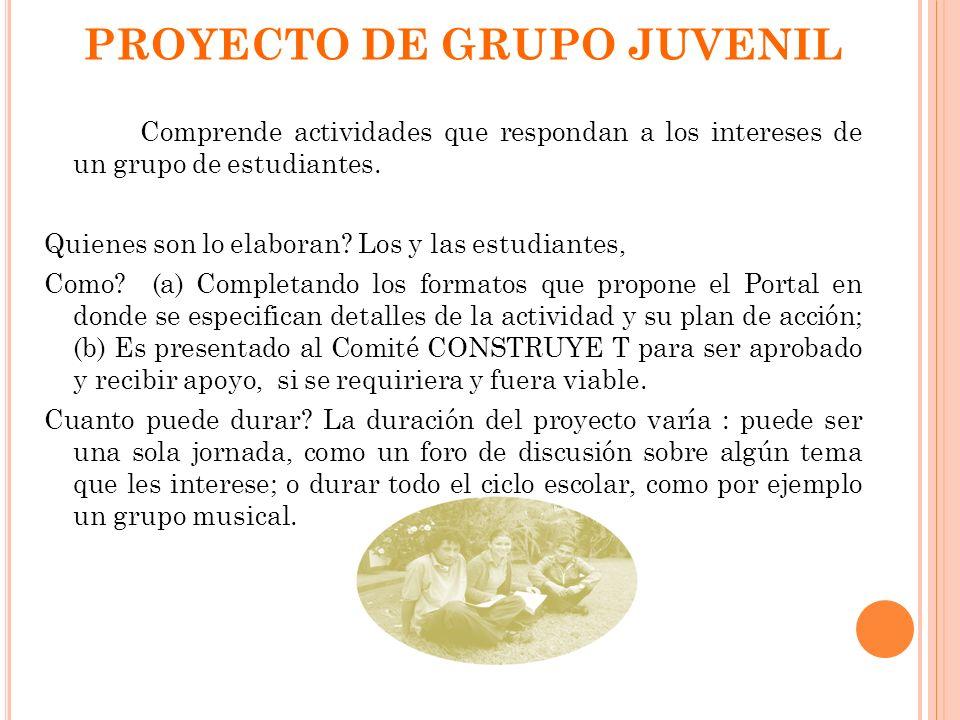 PROYECTO DE GRUPO JUVENIL