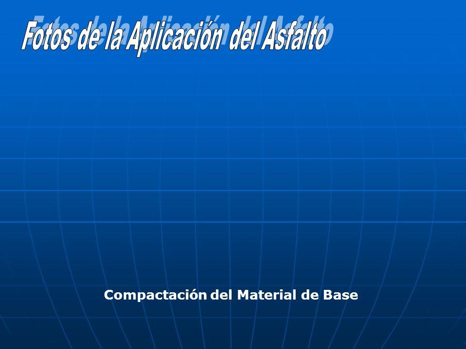 Compactación del Material de Base