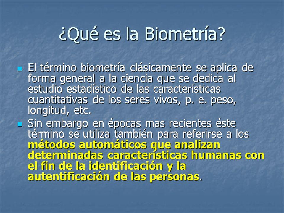 ¿Qué es la Biometría
