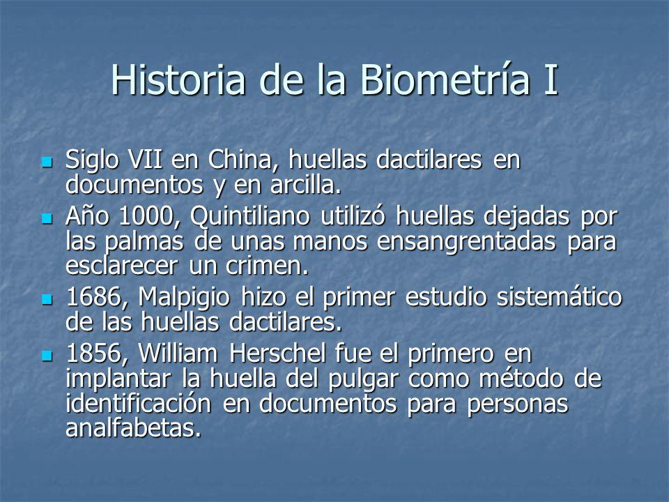 Historia de la Biometría I