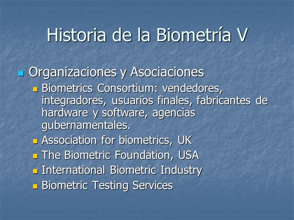 Historia de la Biometría V