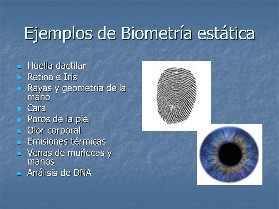 Ejemplos de Biometría estática