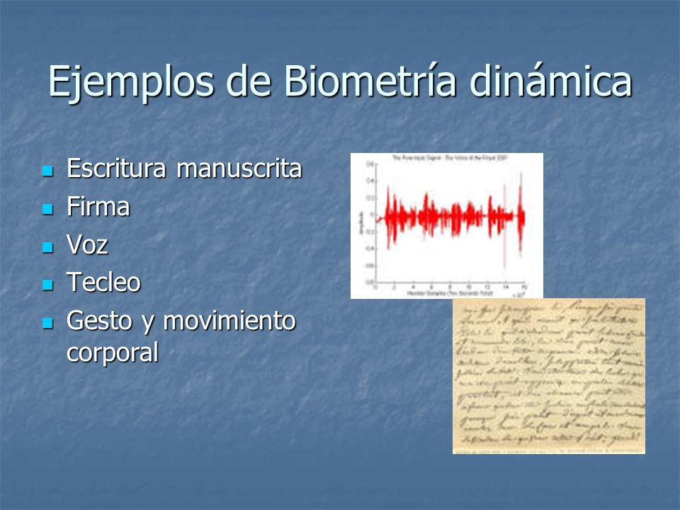Ejemplos de Biometría dinámica