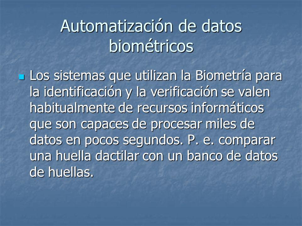 Automatización de datos biométricos