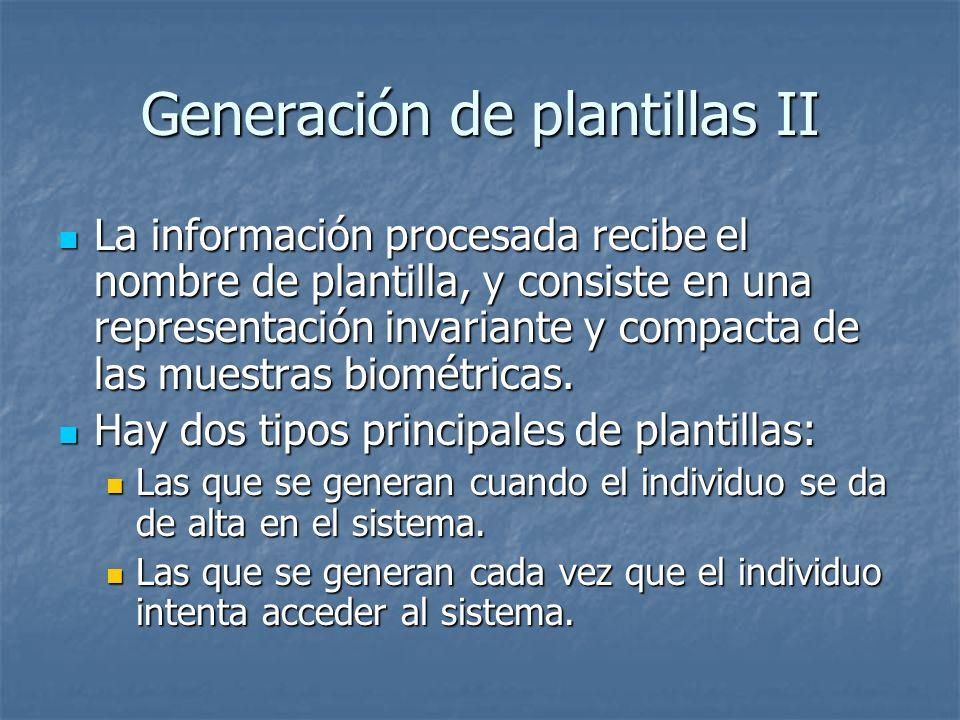 Generación de plantillas II