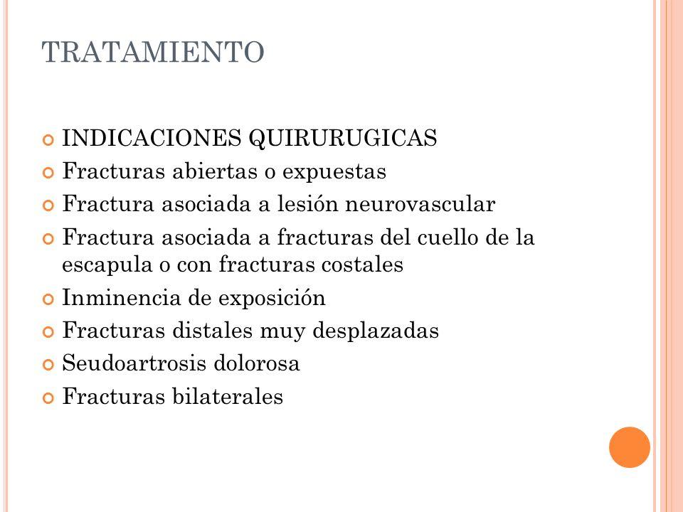 TRATAMIENTO INDICACIONES QUIRURUGICAS Fracturas abiertas o expuestas