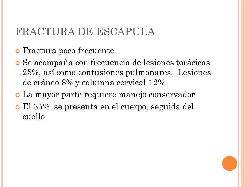 FRACTURA DE ESCAPULA Fractura poco frecuente