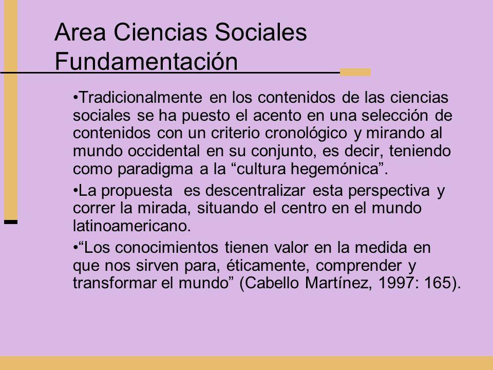 Area Ciencias Sociales Fundamentación