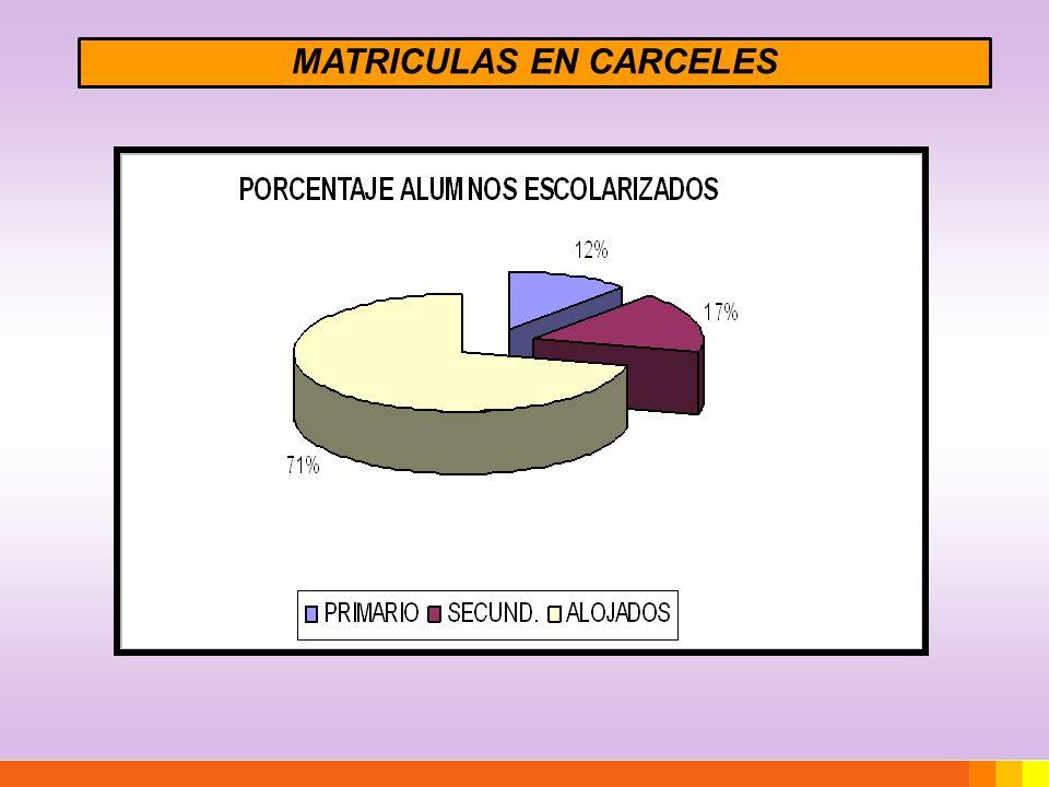 MATRICULAS EN CARCELES