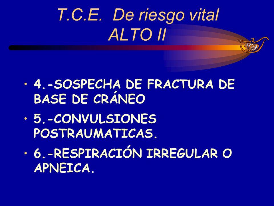 T.C.E. De riesgo vital ALTO II