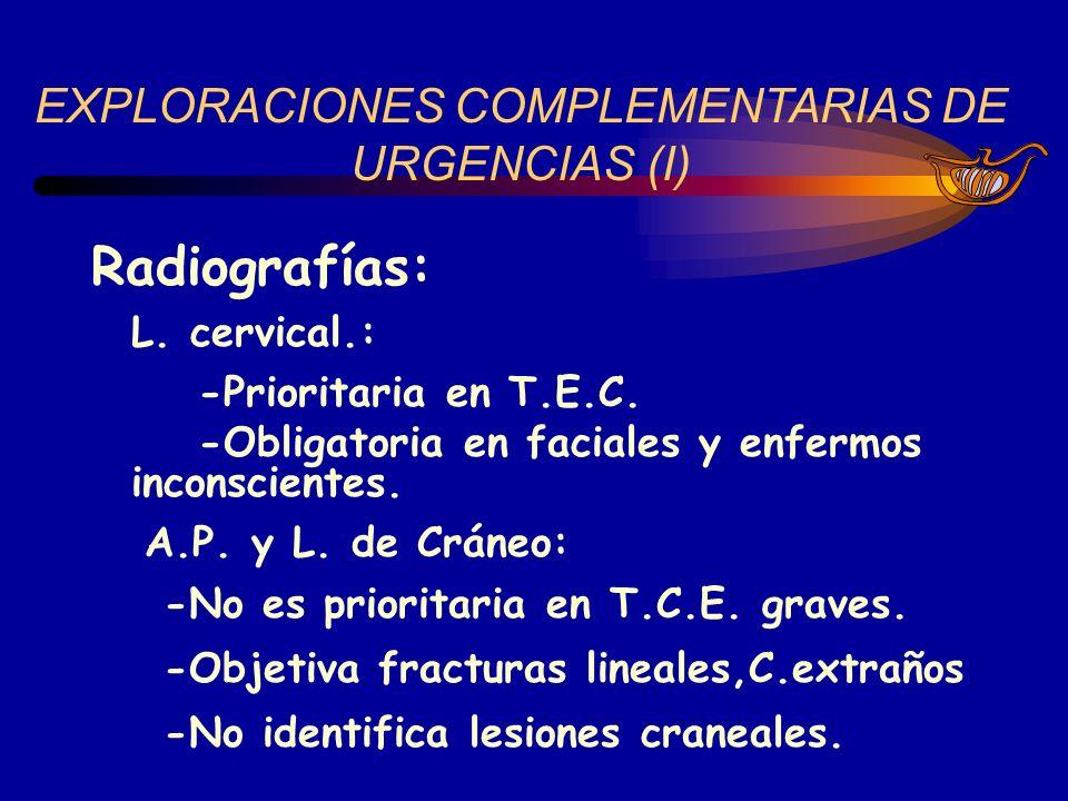 EXPLORACIONES COMPLEMENTARIAS DE URGENCIAS (I)