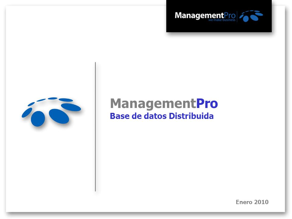 ManagementPro Base de datos Distribuida Enero 2010