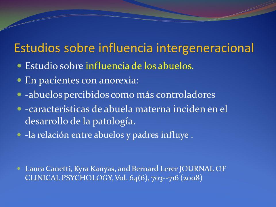 Estudios sobre influencia intergeneracional