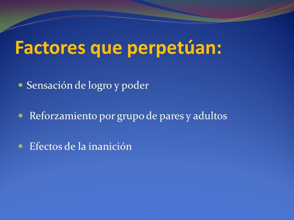 Factores que perpetúan: