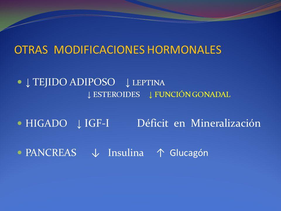OTRAS MODIFICACIONES HORMONALES